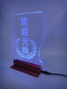 Table LED Acrylic sign/led edgelit sign,desk led sign,desk acrylic