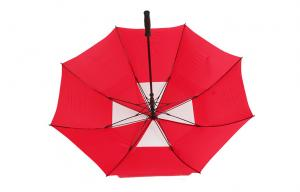 China Red Double Canopy Golf Umbrella , waterproof umbrella For Woman on sale