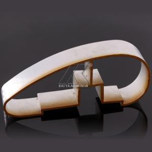 China Ajustable Aluminium Handrail Profiles OEM Customize Length Light Wood Grain Finish on sale