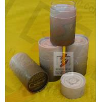 China Kraft Paper Wine Bottle Gift Tube With Lids , Cylinder Wine Gift Boxes on sale