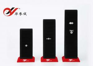 China Shape Customized Jewelry Display Stands Black Velvet Finger Ring Display Holder on sale