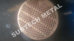 China SA516 Gr.70 Thick Naval Brass Clad Plate Tubesheet Machined and Drilled on sale