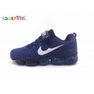 China Flyknit Material Boys Running Shoes Slip On Flexible Air Cushion Outsole on sale
