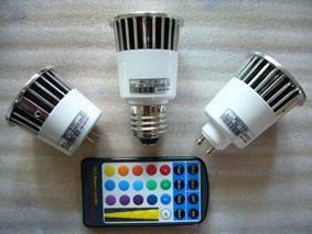 China (MR16, GU10, E27) RGB LED Spotlight 5W on sale
