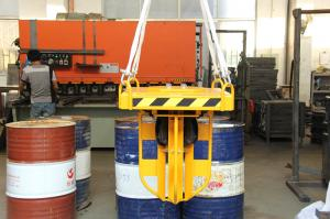 China 500Kg*4 Loading Drum Clamp Attachment Larger Size for Crane , Hoist on sale
