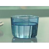 Colored high borosilicate pyrex double wall drinking glasses , Light blue