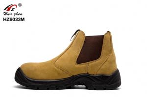 China Action Suede Leather PU Sole Safety Shoes Heat Resistant With Steel Toe Cap on sale