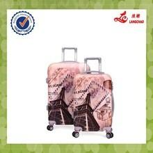 China 2015 hot sell four wheels hard abs pc luggage on sale