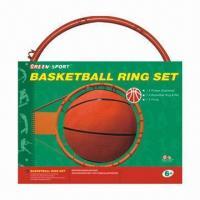 Basketball Hoop/Basket Ring Net Set with 47/38cm Diameter, Made of Steel
