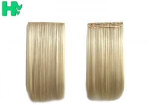China 100% Synthetic Hair Extensions Long Straight Wave Blonde Color For Adults on sale