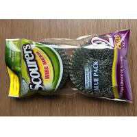 China Galvanized Steel Wire Mesh Cleaning Scourers ,Steel Wool Scouring Pads Eco Friendly on sale