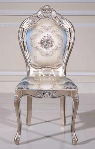 China Fabric Wood Upholstery European Design Dining Table Chair Set on sale