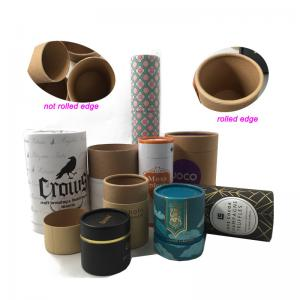 China Biodegradable cylinder packaging round paper carton tube box,cardboard tube with lid on sale