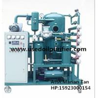 ZJA Double Stage Cable Oil Cleaning Equipment,Transformer Oil Filtration Machine