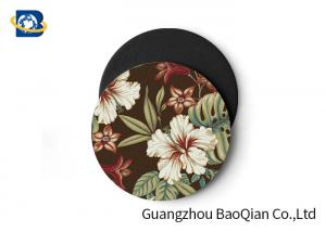 China Vivid Depth Effect 3D Floral Lenticular Coasters PET/ EVA Material Customized Size on sale