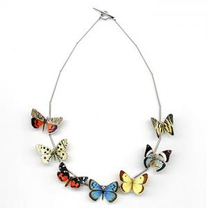 China Wholesale quality linked fashion jewelry polymer clay necklace (0086) on sale
