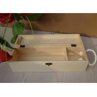 Personalised Wooden Wine Gift Box , Nature Pine Wood Wine Box 130 X 120 X 360 mm