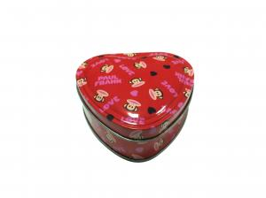 China Heart Shaped Chocolate Tin Box Tinplate Containers For Food Packaging on sale