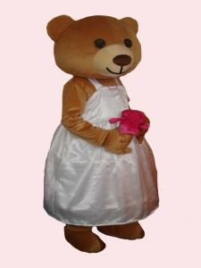Quality girls bear mascot party cartoon costume for sale