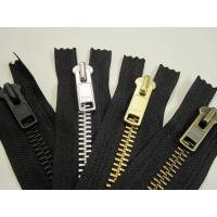 China NO 5 gold metal teeth zipper on sale
