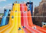 Theme Park Custom Water Slides Steel Structure For Hotel / Resorts Used