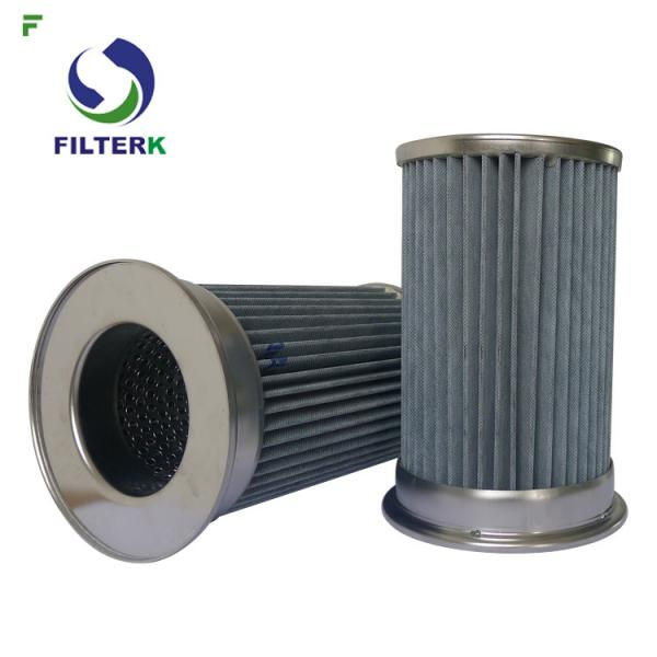 Pleated Vacuum Pump Filter Element , Clean Side Removal