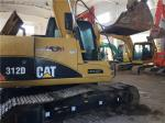 Used Caterpillar 312D Crawler Excavator C4.2 ACERT engine 12T weight  with Original Paint