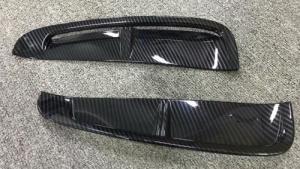 China For Porsche Panamera 2018 Carbon Fiber Side Vent Cover Front Canard Molding Trims Fins on sale