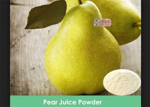 China 100% Water Suluble Pear Juice Powder No Artificial Colors / Preservatives on sale