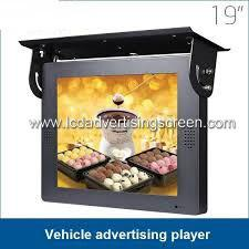 China Taxi or Bus Advertising Screen / Car Lcd Monitor Flat Screen Pc 1366*768 Resolution on sale