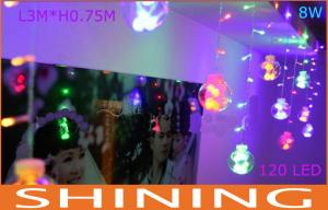 China Low Power 3m * 0.75mm RGB LED Curtain Lights 50000h Long Life on sale