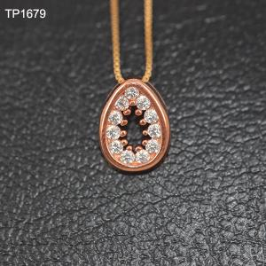 China OLF Fashion Women Rose Gold Plated 925 Sterling Silver Zircon Pendant on sale
