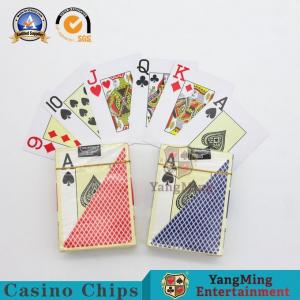 China CMYK Printing Casino Playing Cards Red / Blue Color 88*58mm 88*63mm on sale