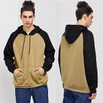 Winter Wholesale Men Cut And Sew Hooded Sweatshirt