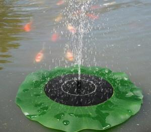 China Solar Water Panel Power Fountain Pump Kit Pool Garden Pond Watering Submersible Floating Lily Smart Solar Fountain Pump on sale