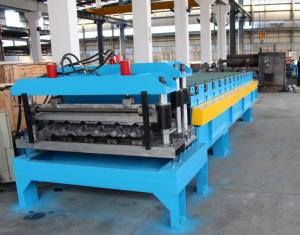 China Aluminium Sheet Roof Tile Making Machine , Wall Panel Cold Roll Forming Machine on sale