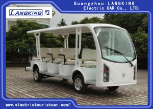China Mini Closed 14 Seats Electric Sightseeing Car With High Impact Fiber Glass Body & Roof on sale