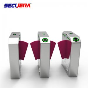 China Smart Retractable Flap Barrier Gate Turnstile Security Subway Wing Gate on sale