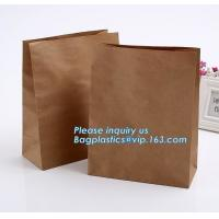 China nature brown Kraft bread packaging paper bags,Brand paper bag machine making paper bag paper bread bag, BAGPLASTICS, LTD on sale