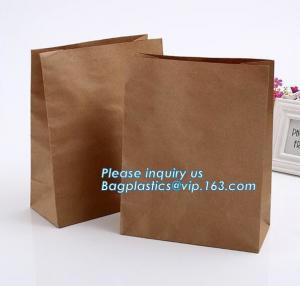 China nature brown Kraft bread packaging paper bags,Brand paper bag machine making paper bag paper bread bag, BAGPLASTICS, LTD on sale