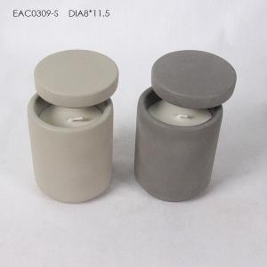 China Wedding Gift Concrete Candle Holder With Lid on sale