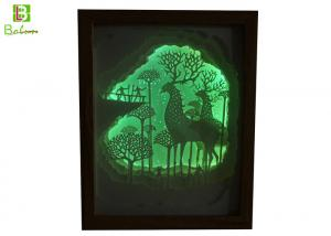 China Silhouette Shadow Box Faint Light Fairy Tale Paper Embedded Backlit Music ABS on sale