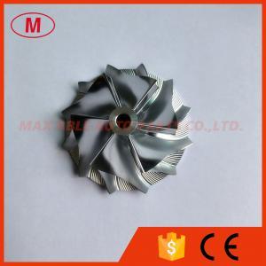 China RHFV5 39.22/52.50mm 6+6 blades Turbo Billet/milling/aluminum 2618 compressor wheel for 06J145702K VW Golf 6 GTI on sale