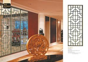 China Lightweight Decorative Metal Screen Panels For Separate / Beautify / Coordinate Space on sale