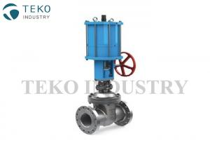 China Pneumatic Actuated Wedge Gate Valve Stainless Steel With Double Action Cyliner on sale