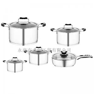 China Best stainless steel 304 cookware sets induction capsule bottom on sale