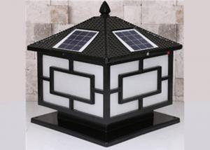China Solar Pillar Garden Light Fittings , Landscape Decoration Exterior Garden Lights Led on sale