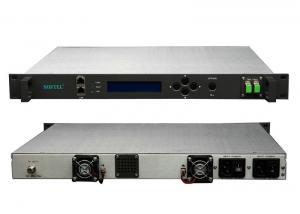 China Digital TV Video FTTB 1550nm Optical Transmitter Silver Single Fiber , AC 220V / 265V on sale