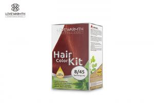 China Low Ammonia Hair Color Kit For Family 13 Plants Extracts 60 Ml * 2 Volume on sale