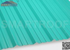 China Industrial Corrugated Plastic Roofing In 27MM Pitch Height With 1.36M Length on sale